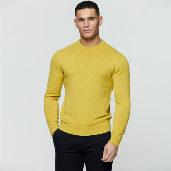 Magee 1866 Chartreuse Carn Cotton Crew Neck Jumper loving the sales