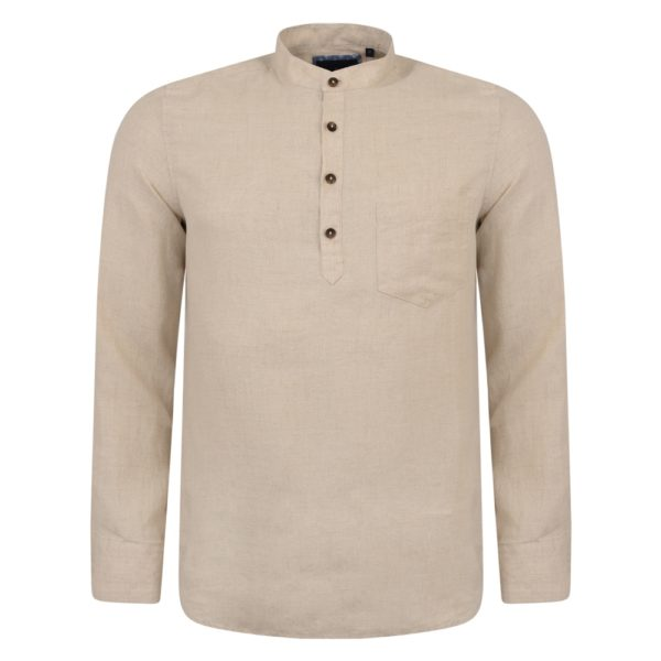 Magee 1866 Irish Made - Oat Linen Corlea Grandfather Classic Fit Shirt loving the sales
