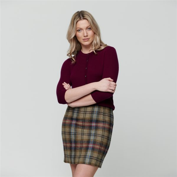 Magee 1866 Multicoloured Carey Checked Donegal Tweed Skirt loving the sales