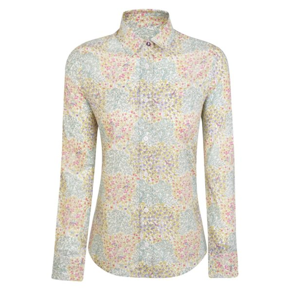 Magee 1866 Multicoloured Hannah Liberty Print Classic Fit Shirt loving the sales