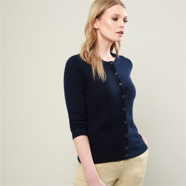 Magee 1866 Navy Beatrice Tailored Fit Cardigan loving the sales