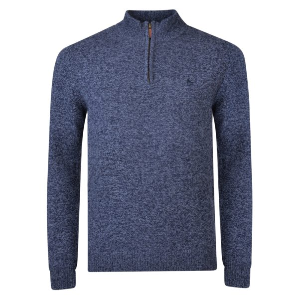 Magee 1866 Navy Mullans Lambswool 1/4 Zip Jumper loving the sales