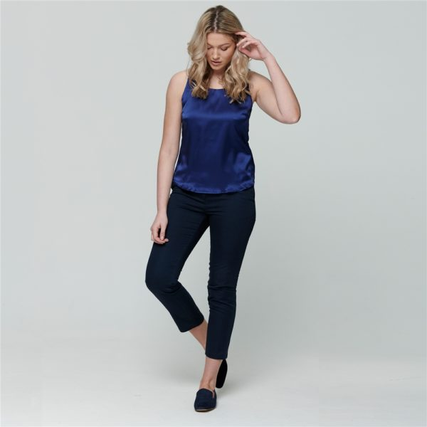 Magee 1866 Navy Spot Sandy Washed Cropped Trousers loving the sales