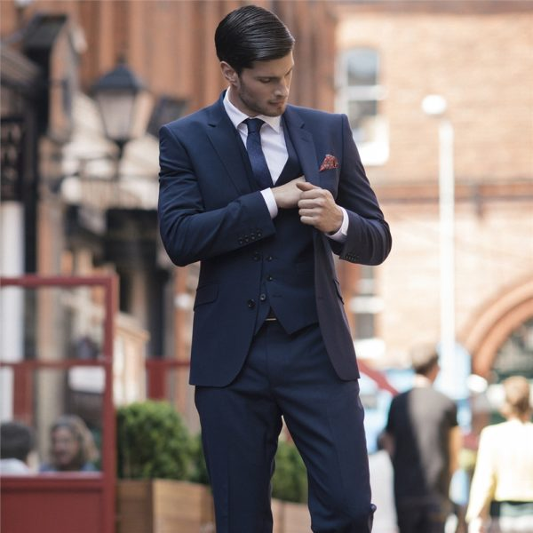 Magee 1866 Navy Travel Mix & Match 3-Piece Tailored Suit Waistcoat loving the sales