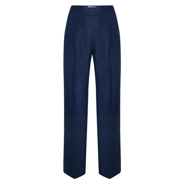 Magee 1866 Navy Willow Irish Linen Trousers loving the sales