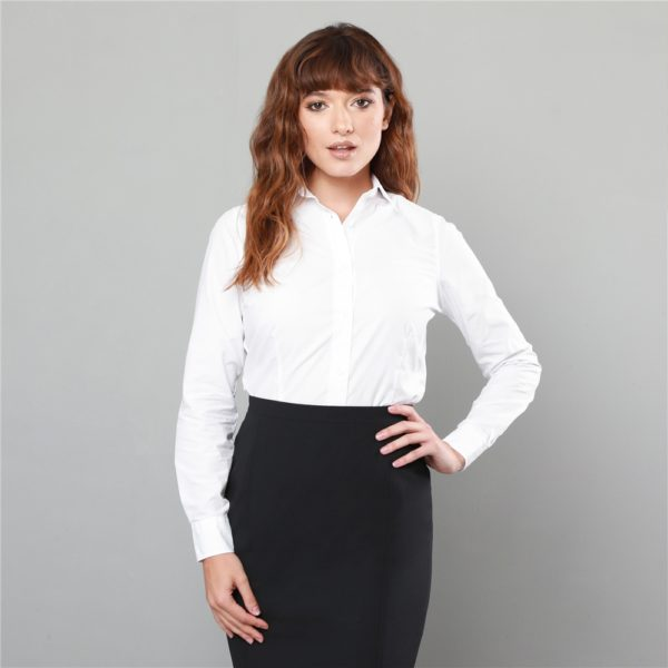 Magee 1866 White Hannah Jacquard Classic Fit Shirt loving the sales