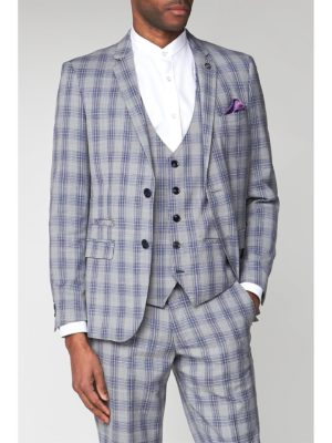 Marc Darcy Jack Grey Check Slim Fit Jacket 38r Grey loving the sales