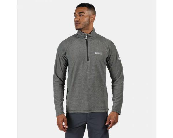 Men's Montes Lightweight Half Zip Mini Stripe Fleece Light Steel loving the sales