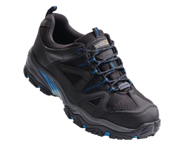 Men's Riverbeck Steel Toe Cap Safety Trainers Black Oxford Blue loving the sales