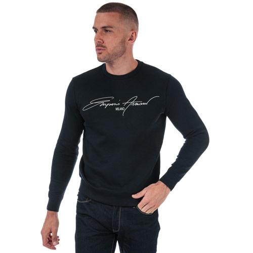 Mens Script Logo Crew Sweatshirt loving the sales