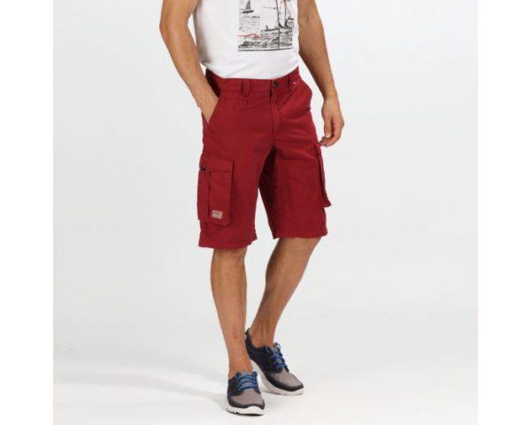 Men's Shorebay Vintage Look Cargo Shorts Delhi Red loving the sales