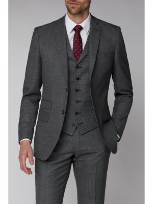 Racing Green Charcoal Texture Tailored Fit Suit Jacket 42l Charcoal loving the sales