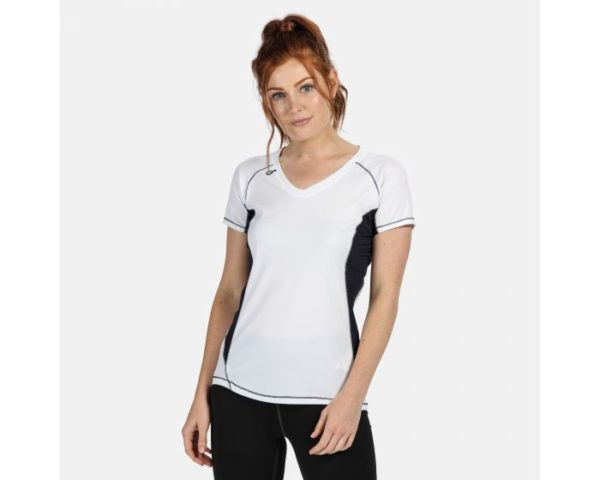 Women's Beijing Lightweight Cool And Dry T-Shirt White Navy loving the sales