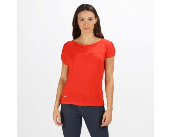 Women's Freesia Casual Top Fiery Red loving the sales