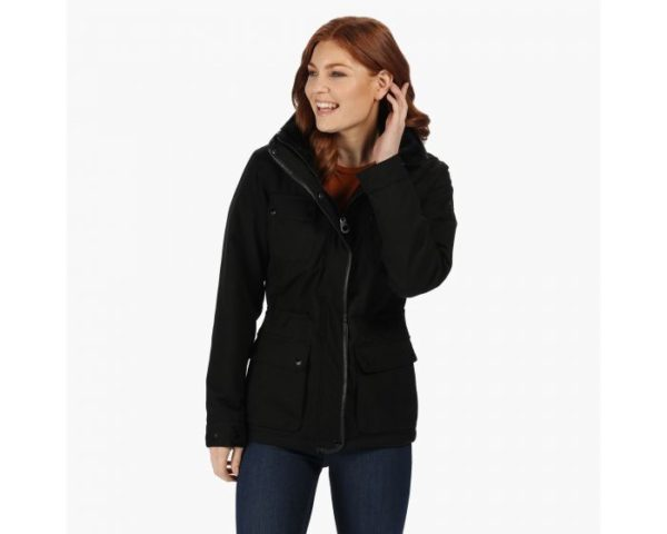 Women's Lizbeth Waterproof Insulated Jacket With Concealed Hood Black loving the sales