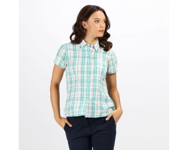 Women's Mindano Iv Short Sleeve Checked Shirt Ceramic loving the sales