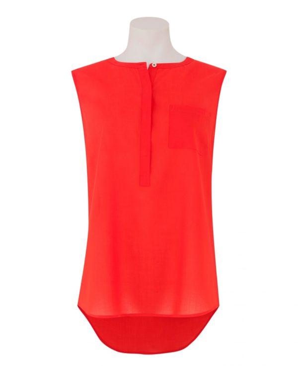 Women's Orange Collarless Sleeveless Shirt 14 loving the sales