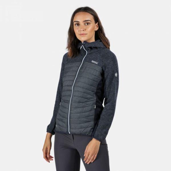 Women's Pemble Water Repellant Full Zip Hybrid Fleece Navy loving the sales