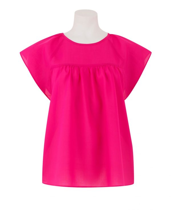 Women's Pink Tencel Cap Sleeve Shirt 8 loving the sales