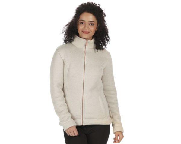 Women's Raneisha Knit Effect Bonded Fleece Light Vanilla loving the sales