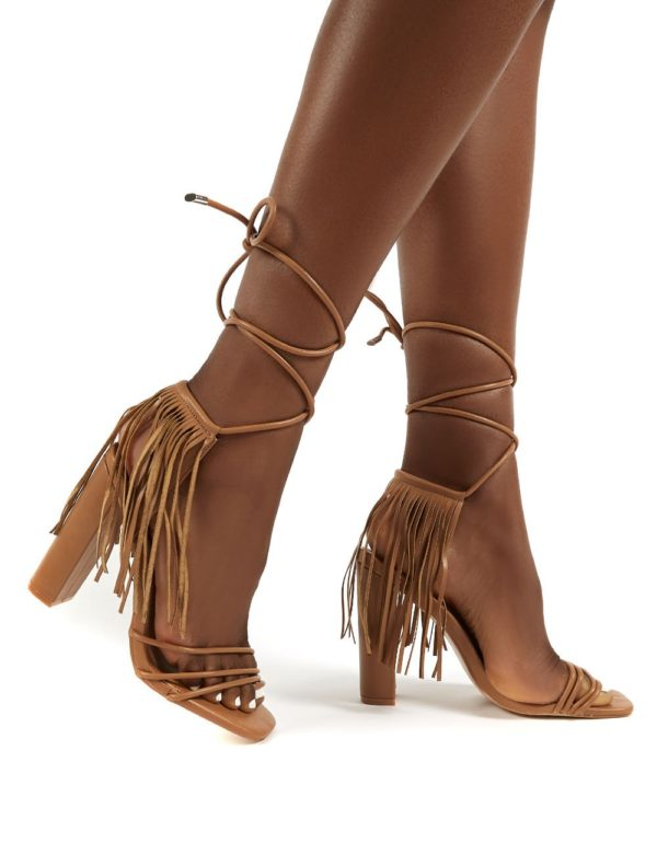 Venga Light  Tassel Tie Up Heels