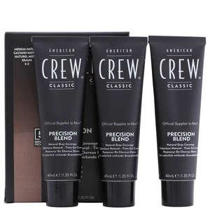 American Crew Precision Blend Mens Hair Dye 4/5 Medium Natural 3 X 40ml loving the sales