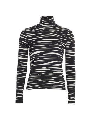 Anne Zebra Stripe Turtleneck loving the sales