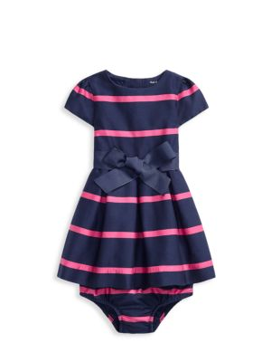 Baby Girl's Stripe 2-Piece A-Line Dress & Bloomers Set loving the sales