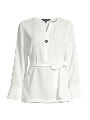 Belted Crepe De Chine Blouse loving the sales