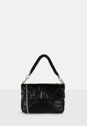 Black Quilted Shoulder Bag loving the sales