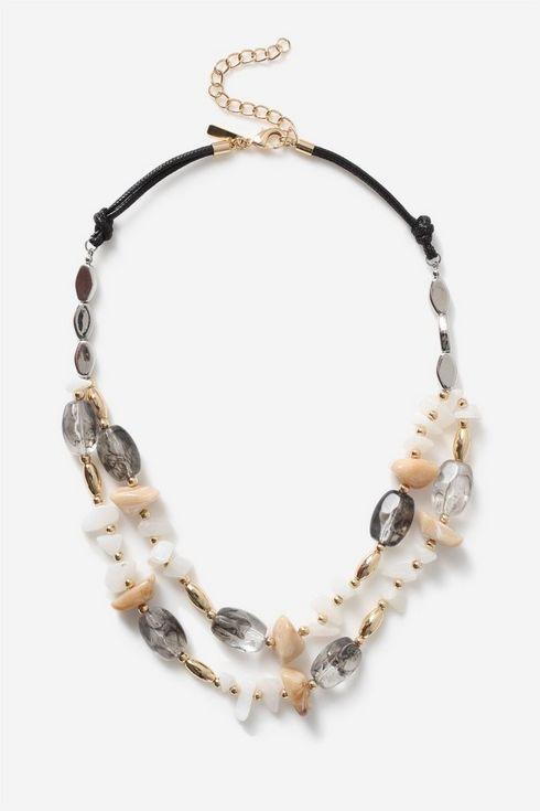 Black Stone Beaded Necklace
