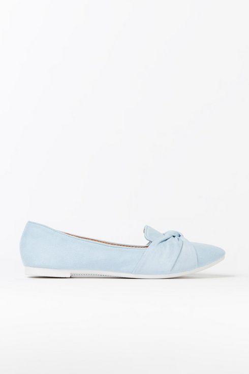 Blue Knot Front Ballerina Pump