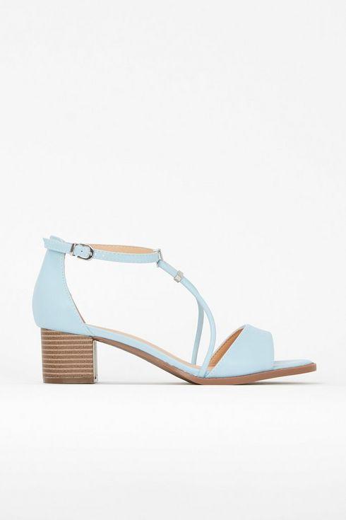 Blue Low Block Trim Sandal