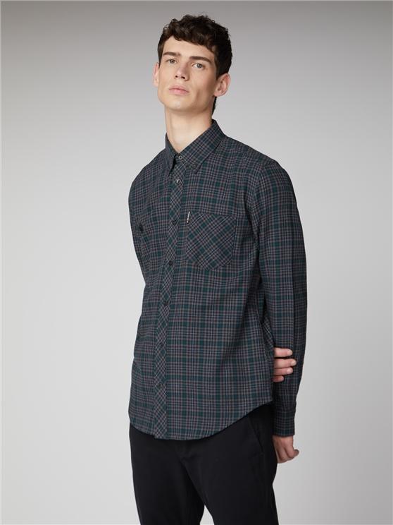 Brushed Check Shirt Anthracite | Ben Sherman - Xl loving the sales