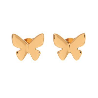 Butterfly Stud Earring Gold Earrings loving the sales