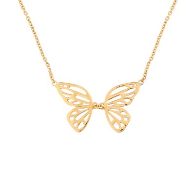 Butterfly Wing Gold Necklace loving the sales