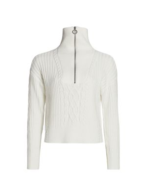 Cable Knit Half-Zip Sweater loving the sales