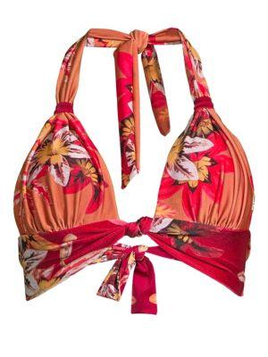 Carmen Floral Halter Bikini Top loving the sales