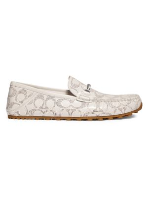 Collapsible Heel Leather Chain Driver Loafers loving the sales