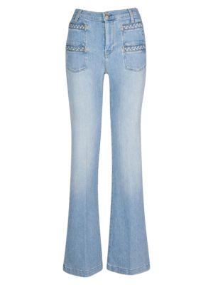 Georgia High-Rise Flared Jeans loving the sales