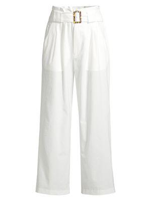 High-Waist Belted Wide-Leg Seersucker Pants loving the sales