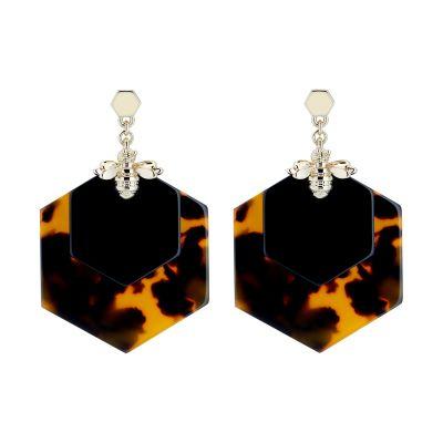 Honzza Bumblebee Honeycomb Earrings loving the sales