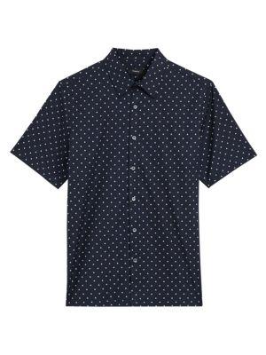 Irving Short-Sleeve Rhombus-Print Shirt loving the sales
