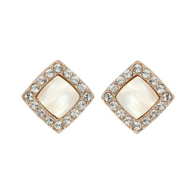 Ladies Adore Rose Gold Plated Resin & Pave Post Earrings loving the sales