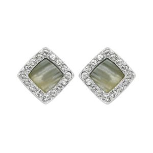 Ladies Adore Silver Plated Resin & Pave Post Earrings loving the sales
