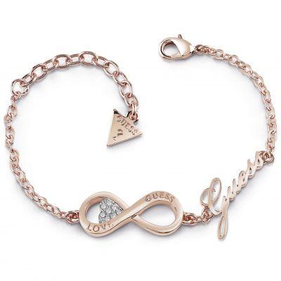 Ladies Guess Endless Love Rose Gold Bracelet loving the sales