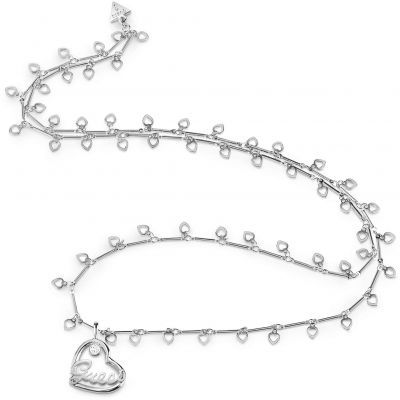 Ladies Guess Princess Silver Necklace loving the sales
