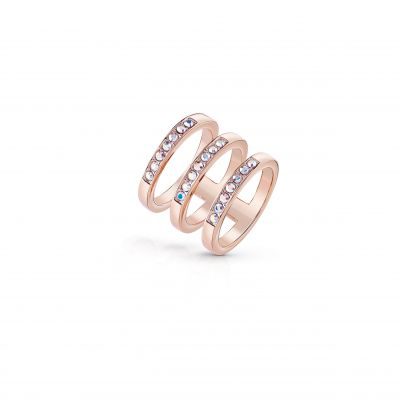Ladies Guess Rose Gold Plated G Colors Ring Size N loving the sales