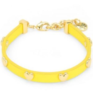 Ladies Juicy Couture Pvd Gold Plated Layered In Couture Heart Leather Bracelet loving the sales