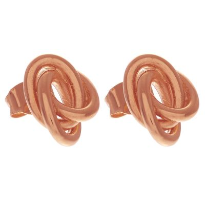 Ladies Olivia Burton Rose Gold Plated Sterling Silver Forget Me Knot Knotted Stud Earrings loving the sales